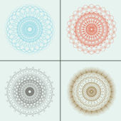 Vector set of abstract circular pattern — Stock Vector
