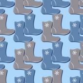 ブーツのセットとクリスマスの背景のベクトル イラスト — ストックベクタ