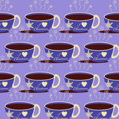 Christmas abstract vector background with a cup of hot drink — Stock Vector