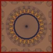 Vector illustration abstract pattern guilloche — Stok Vektör