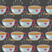 Christmas abstract vector background with a cup of hot drink — 图库矢量图片