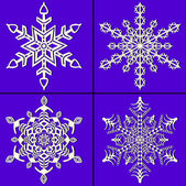Christmas abstract vector set illustration of snowflakes — Stock Vector