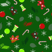 Seamless christmas vector illustration background with Christmas — Stock Vector