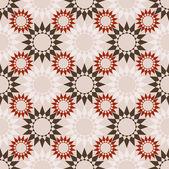 抽象的な花のシームレスなパターン ベクトル — ストックベクタ