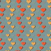 Vector afbeelding achtergrond met symbool van Valentijnsdag hart — Stockvector