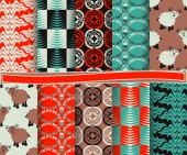Set of abstract Christmas vector paper for scrapbook — ストックベクタ