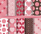 Set of  vector abstract Valentine's Day paper for scrapbook — Stockvector