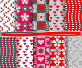 Set of vector abstract paper for scrapbook Valentine's Day — Wektor stockowy
