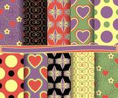 Set of vector abstract paper for scrapbook Valentine's Day — Vetor de Stock
