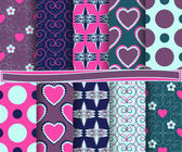 Set of vector abstract Valentine's Day paper for scrapbook — Vetor de Stock