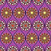 Abstract circular pattern. Vector illustration — Stock Vector