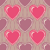 Valentine's Day vector seamless abstract background illustration — Stock Vector