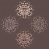 Set of abstract circular patterns. Vector illustration — Stock Vector