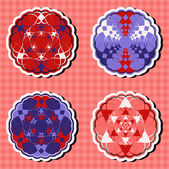 Vector set of circular patterns emblem — ストックベクタ