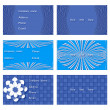 Set of vector templates for invitations, business cards — Stock Vector #76988579