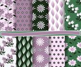 Набор абстрактные цветочные векторных бумага для записок — Cтоковый вектор