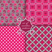 Vector set of seamless patterns — Stock Vector
