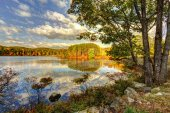 Colorful fall scenery landscapes. — ストック写真