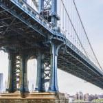 Views of New York City, USA. Manhattan Bridge. — Stock Photo #57976471