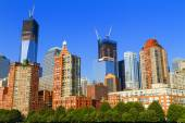 Views of New York City, USA, Freedom Tower and the World Trade C — Stock Photo