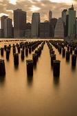 Night views of New York City — Foto de Stock