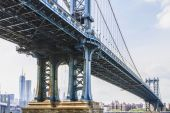 Views of New York City, USA. Manhattan Bridge. — Stock Photo