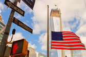 Views of New York City, USA. Freedom Tower and the World Trade C — Stock Photo
