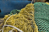Commercial fishing boat equipment. — Stock Photo