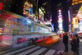New york city v noci. — Stock fotografie