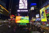 Нью-Йорк ночью. — Стоковое фото