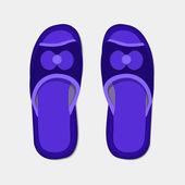 Vector modern flippers on gray bakground. — Stock Vector