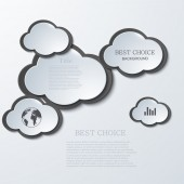 Vector modern clouds infographic background — Stock Vector