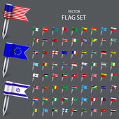 Vector modern set  flags of the world — Vecteur