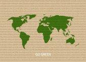 Vector modern go green background. — Stock Vector