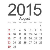 Vector modern 2015 calendar. Eps 10 — Stock Vector