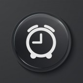 Vector modern black glass circle icon. — Vector de stock