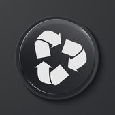 Vector modern black glass circle icon. — Stok Vektör
