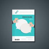 Vector flyer or banner. Brochure template design — Stock Vector