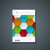 Vector flyer or banner. Brochure template design. — Vector de stock