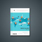 Vector flyer or banner. Brochure template design. — Stock Vector