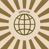 Vector moderna 22 april jordens dag bakgrund. — Stockvektor