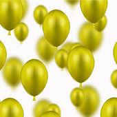 Vector modern yellow balloons on white — Stock Vector