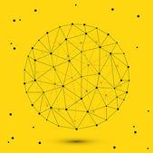 Vector modern circle polygonal space — Stock Vector