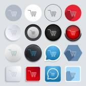 Vector modern shopping icons set — Stock Vector