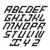 Vetor preto alfabeto em branco — Vetor de Stock