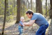 Father with his little baby boy — Stock Photo