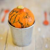 Pumpkin on the table — Stock Photo