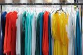 Beautiful wedding or evening dresses — Foto Stock