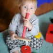 Baby playing with toy — Stock Photo #58793673