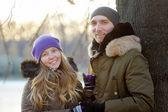 Glückliches junges Paar — Stockfoto